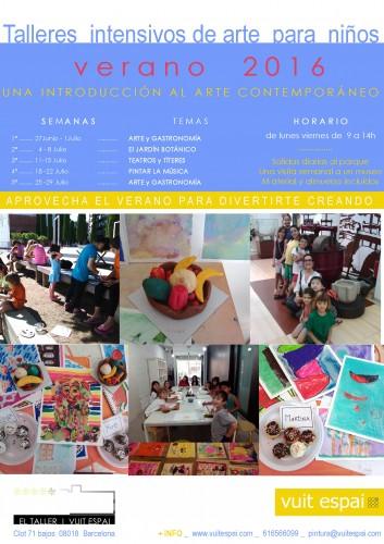 Taller de arte para ni os verano 2016 barcelona taller for Trabajos de verano barcelona