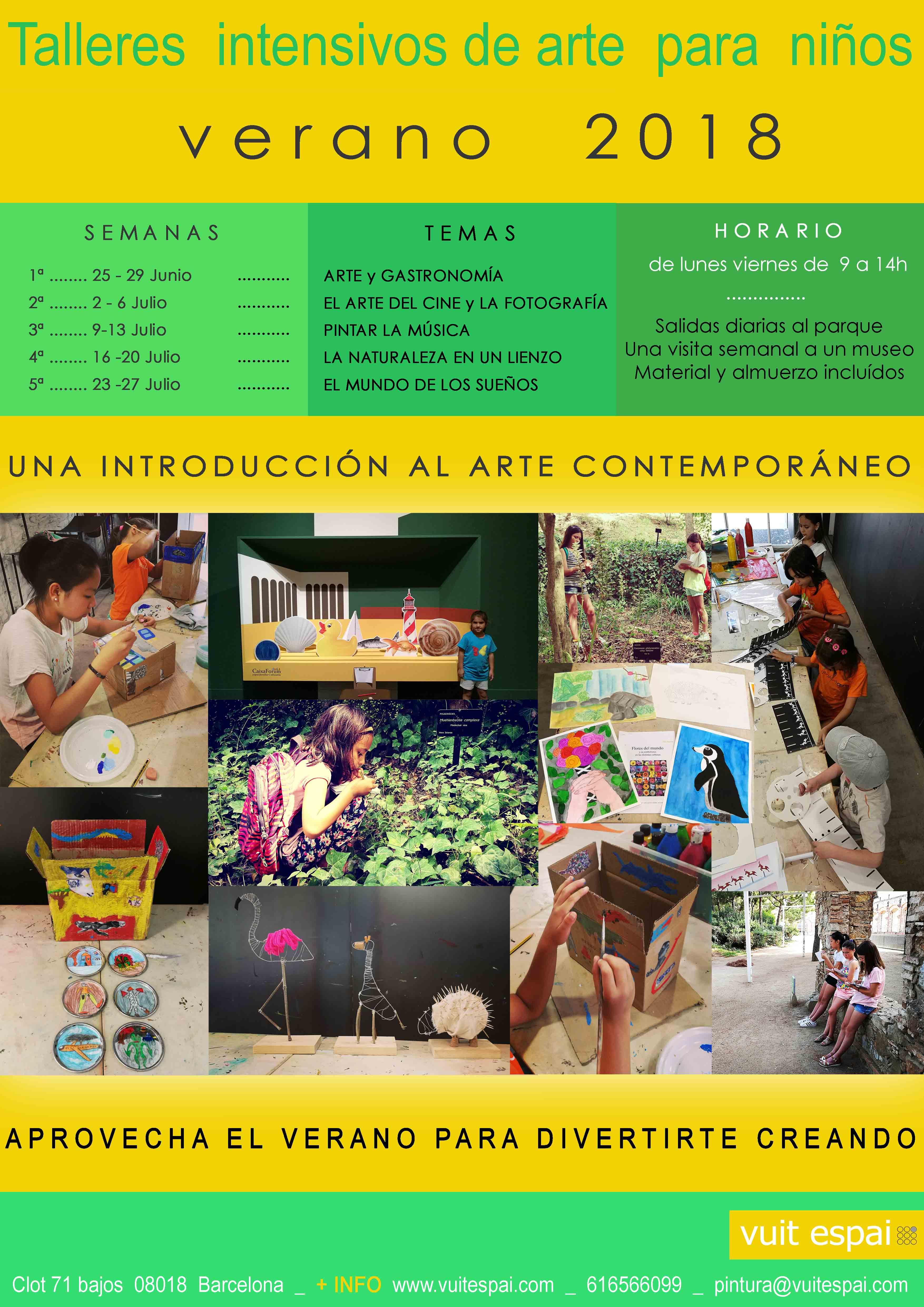 Taller de arte para ni os verano 2018 barcelona taller for Trabajos de verano barcelona